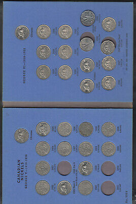 1922-60 Canada 5 Cents Coin Collection Of 43 In Album