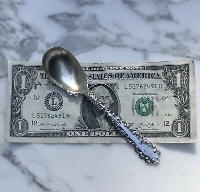 "1 Antique RW Wallace 1890 WAVERLY Sterling Silver 5"" ICE CREAM SPOON-16g-12avail"
