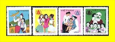 N.Vietnam MNH Sc # 1005-08 Mi 1040-43  Value $ 4.00  US