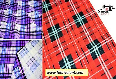 Printed Brushed Flannel 100% Cotton,Tartan Check Print Fabric,High Quality,110cm