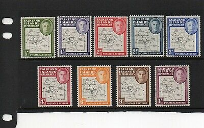 Falkland Islands Dependencies 1946 thin maps SG G9-16. mounted mint. Cat £100
