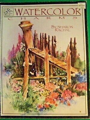 `Watercolor Charms By Sharon Rachal 1997 Scheewe  Patterns And Tole Paint Book