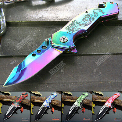 """8"""" HUNTING CAMPING  Survival/Tactical Gear RESCUE DROP POINT RAZOR Blade Knife"""