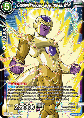 BT2-062 SR : Golden Freezer, le retour du Mal | Carte Dragon Ball Super DBS FR