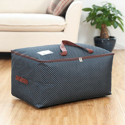 Foldable Large Travel Bag Luggage Clothes Quilt Blanket Storage Organizer 100L A