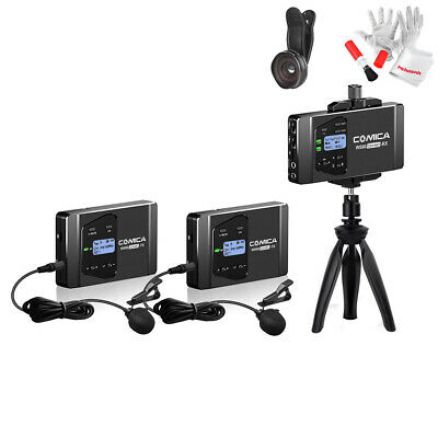 Comica CVM-WS60 Combo 12CH Wireless Dual Lavalier Lapel Microphone System+ Gift
