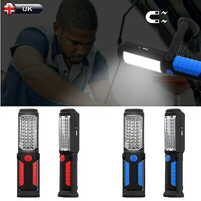 Rechargeable COB 5 LED Hand Torch Lamp Magnetic Inspection Work Light Flexible C