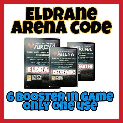 THRONE OF ELDRAINE Prerelease MTG Arena Code 6 Booster in Gioco Game ONLY 1 USE