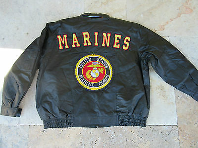 Army Usmc US Marines Leather Jacket Corps Insignia Patch Size XL