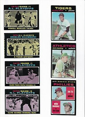 ***1971 Topps 2nd Series Baseball PICK LOT-YOU Pick any 1 of 32 cards for $1!
