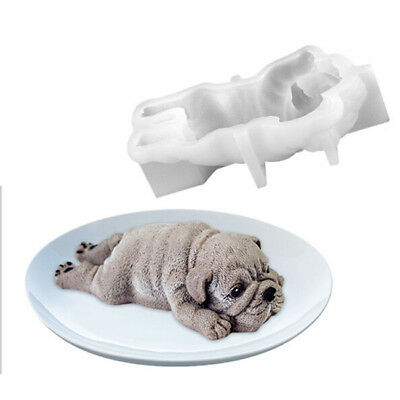BAKING MOULD 3D Silicone Dog Shape Cake Soap Chocolate Jelly