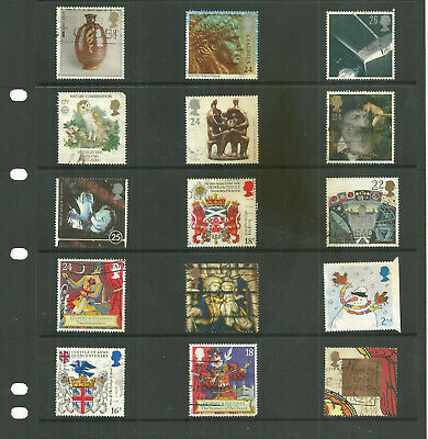 GB 3 stock sheets   commemorative mix collection stamps