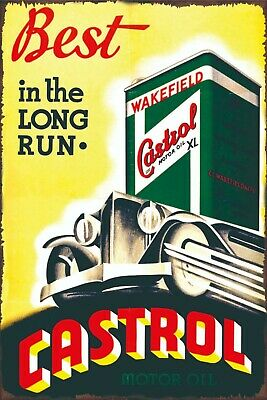 Castrol Z Motor Oil  Metal Tin Sign Garage Rustic Man Cave Poster Wall Decor