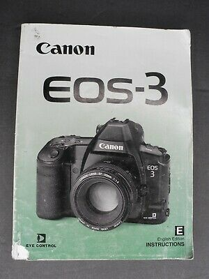 Canon Genuine EOS 3 Camera Instruction Book / Manual / User Guide
