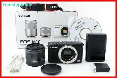 Canon EOS M10 DSLR Camera with 15-45mm IS STM Lens - Black **Near Mint** 00112