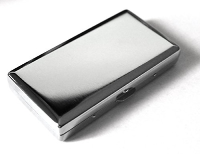 Victorian Style Cigarette Case Double Sided King & 100s PLAIN Pattern Silver NEW