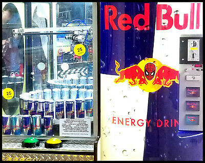 Red Bull Play to Win Combinatioin Vending Game Special Offer One to Customer NEW