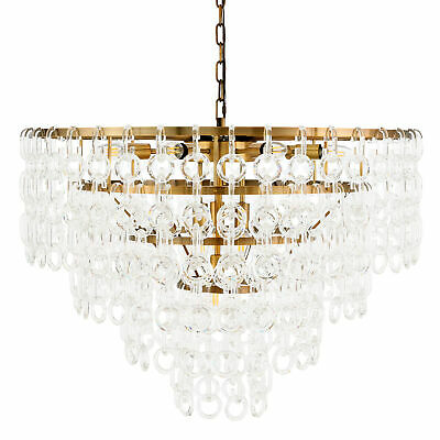 "Elegant Lighting 1713D32  Debutante 12 Light 32"" Wide Crystal Chandelier - Brass"