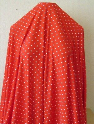 STRIPED /& POLKA DOTS PRINT BY THE YARD BRUSHED LYCRA 4W STRETCH BLACK /& RED