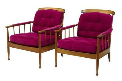 PAIR OF 1960's SWEDISH WALNUT OPE MOBLER LOUNGE CHAIRS
