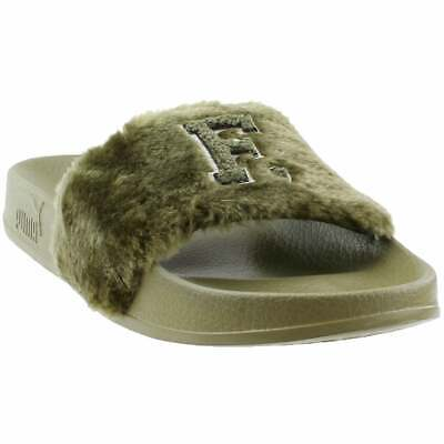promo code 64671 a9e09 PUMA FENTY BY Rihanna Leadcat FU Fur Slide Sandals - Green - Womens