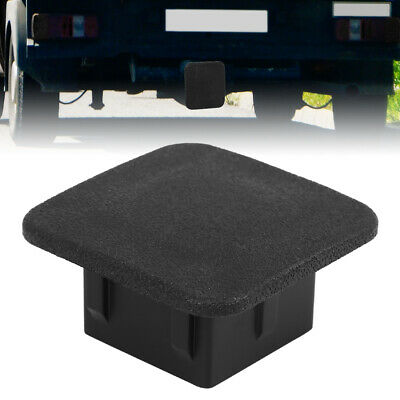 Black Rubber Trailer Hitch Cover Towing Dust Protector Cap for 1.25'' Receivers
