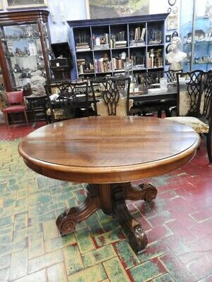 Antique Table round from '800 Walnut Extendible Original Period Luigi Filippo