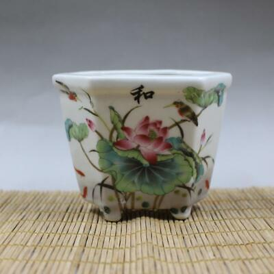Chinese ancient antique hand make  Lotus leaf  Lotus flower Flowerpot a40