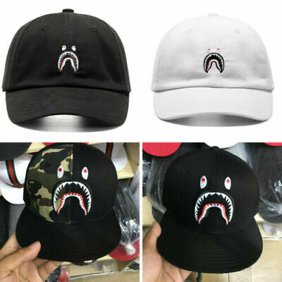 ea8f0bec BAPE A BATHING APE Hat Embroidery Shark Jaw Monkey Head Baseball Men Women  Cap
