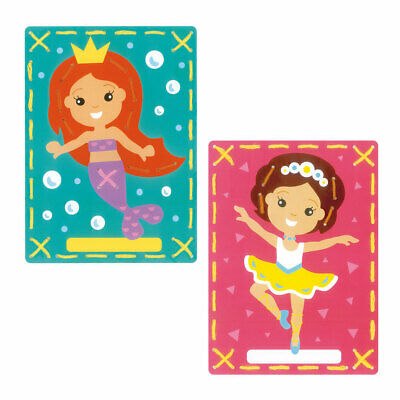 Embroidery Kit Invite Cards Mermaid and Ballet (Two) Stitched on Yarn 18.5x26cm