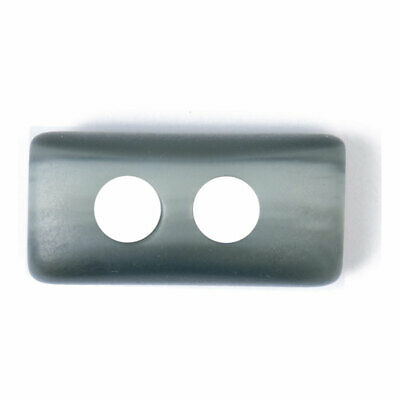 ABC Loose Buttons Polyester | 25mm  Grey | Pack 20 | Toggle | 2 Hole | 2B-2273