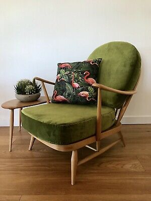 Ercol Vintage Blonde 203 Armchair Refurbished With Brand New Upholstery