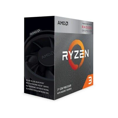 AMD Ryzen 3 3200G 4 Core Socket AM4 3.6GHz CPU Processor + Wraith Stealth Cooler