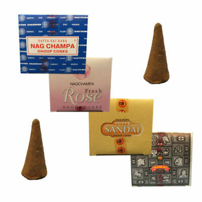 ❤️ Genuine Original Satya Insence Nag Champa Superhit Dhoop Box Incense Cones