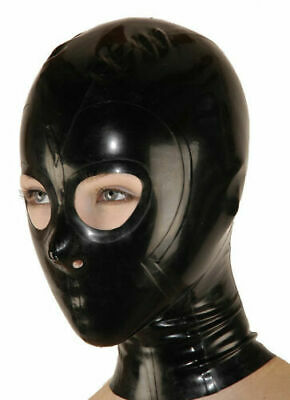 Latex Catsuit Rubber Gummi  Bassic Full Face Cover Catsuit Mask Customized 0.4mm