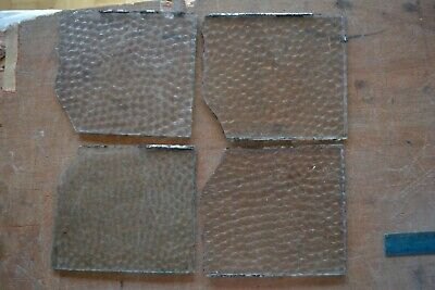 4 cuts of hammered for British leaded light stained glass window panels. S895a