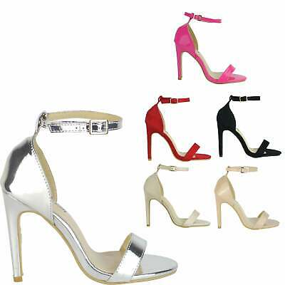 Womens Ladies Stiletto High Heels Ankle Strap Sandals Pumps Peep Toe Shoes Forma