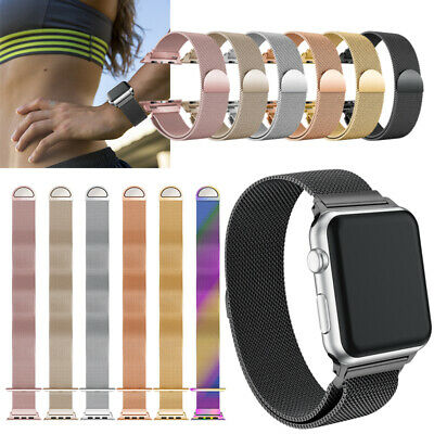 Stainless Steel Strap Watch Band Clasp For Apple Watch Series IWatch 1/2/3 42mm