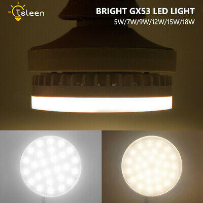 8Pcs GX53 LED Bulb 9W 12W 15W Super Bright Lamp Downlight For Home Office Hotel
