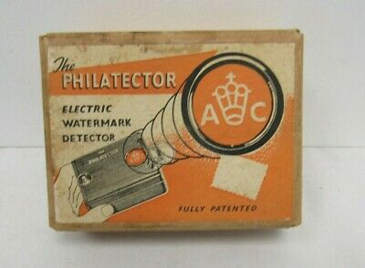 The Philatector Electronic Watermark Detector Stamps Original box - SAL P40