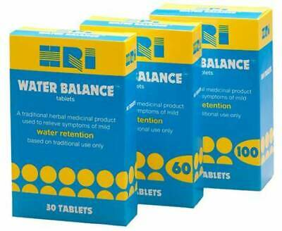 HRI Water Balance 30 or 100 Tablets **For Water Retention**