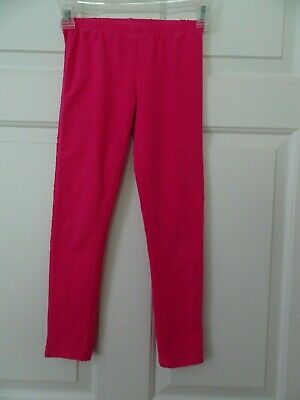Children's Place Girls Pink Leggings/Pants Size 10/12-Lace Inset on Side Seams