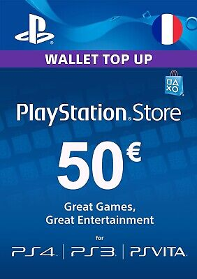 🔑📩 [Carte Psn Playstation Network Sony] -50€- (Compte Français) 📬