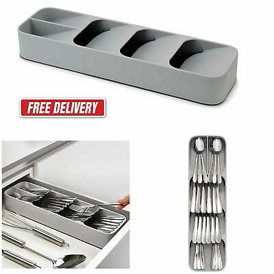 Kitchen Drawer Store Small Plastic Cutlery Tray Drawerstore Compact Utensils