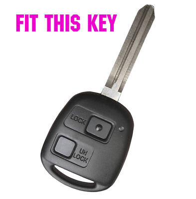 Silicone Key Cover Fob For Toyota Land Cruiser RAV4 Previa Yaris Alphard