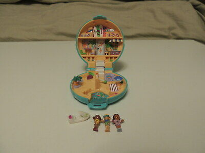Vintage 1989 Blue Bird Polly Pocket Playset Beach Party nearly complete VGUC