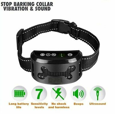 LCD Automatic Anti-Bark Collar Stop Dog Pet Barking Waterproof Rechargeable AU