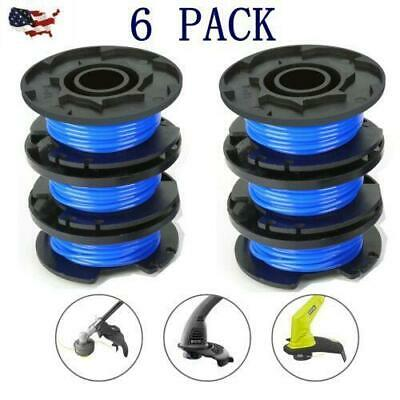 6PCS LINE STRING Trimmer Replacement Spool Auto Feed kit For