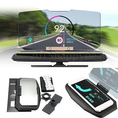 Universal Car Mobile GPS HUD Navigation Head Up Display Phone Holder   !