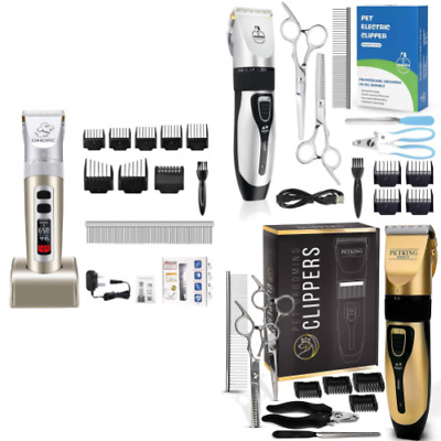Cordless Dog Clippers Trimmer Rechargeable Professional Hair Grooming Silent Kit
